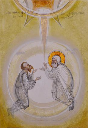 Saint Seraphim of Sarov and Motovilov under the Holy Spirit's light