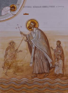 The martyrdom of Saint Irenaeus, bishop of Sirmium