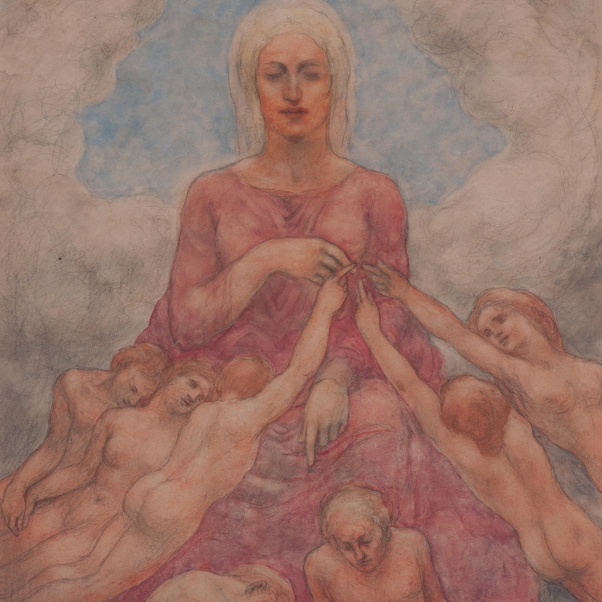 Jibran Khalil Jibran, Mother Earth, watercolor and pencil on paper, undated. Telfair Museum of Art, Savannah, Georgia.