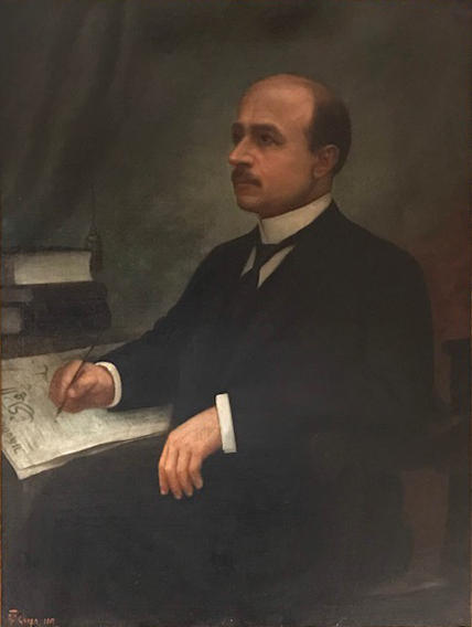 Assad Ghosn, Portrait of Naoum Mokarzel, c. 1904-1941. Courtesy private collection.