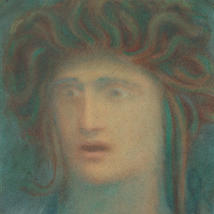 Jibran Khalil Jibran, Medusa, pastel on paper, c. 1905-1908. Telfair Museum of Art, Savannah, Georgia.