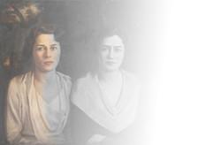 Portrait of three women by painter Assad Ghosn