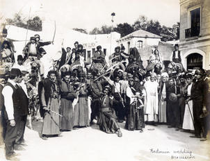Bedouin wedding procession, Louisiana Purchase Exposition, 1904. St. Louis, Missouri. Courtesy of Louisiana Purchase Exposition Collection, Missouri Historical Society.