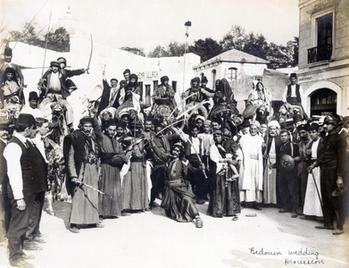 Bedouin wedding procession, Louisiana Purchase Exposition, 1904. St. Louis, Missouri. Courtesy of Louisiana Purchase Exposition Collection, Missouri Historical Society.
