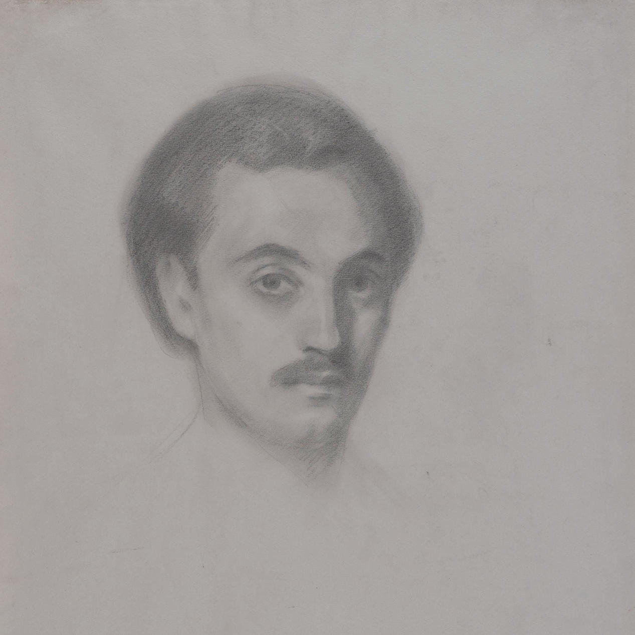 Jibran Khalil Jibran, Self Portrait, pencil on wove paper, 1910. Telfair Museum of Art, Savannah, Georgia.