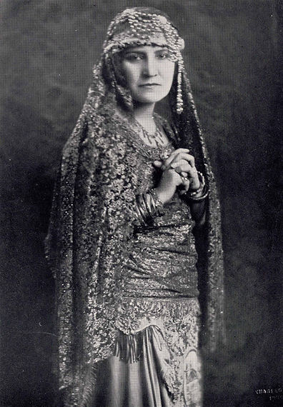 Costumed early Arab American performer Rahme Haidar