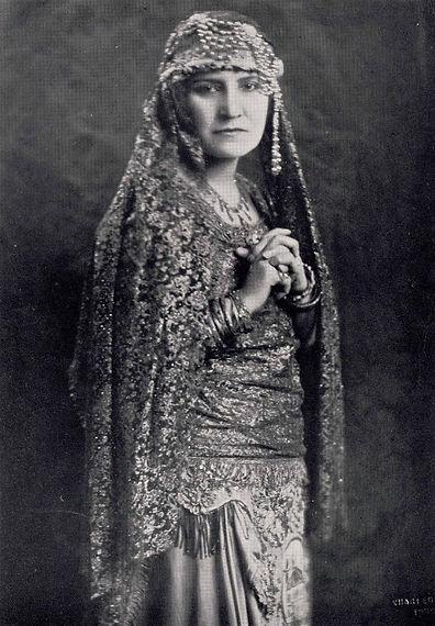 Costumed early Arab American performer Rahme Haidar