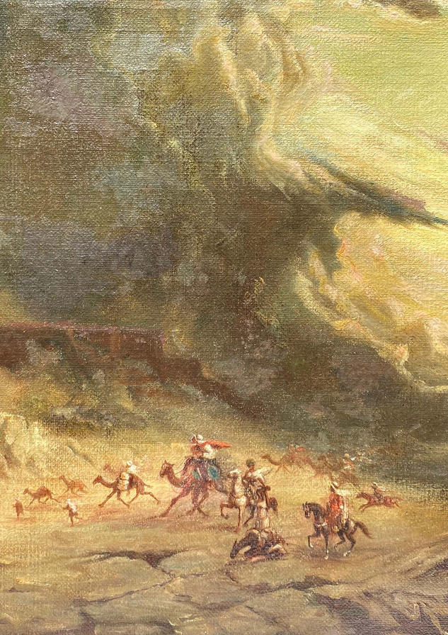 "Assad Ghosn, ""Untitled sandstorm scene,"" c. 1904-1941. Courtesy private collection."