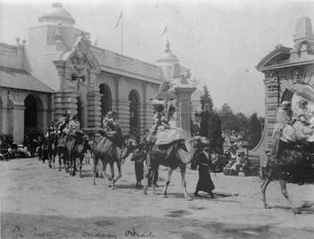 Parade of Camels at Pan American Exposition, 1901. Buffalo, New York. Library of Congress.