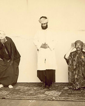 Arab American performers Joseph Arbeely and his two sons
