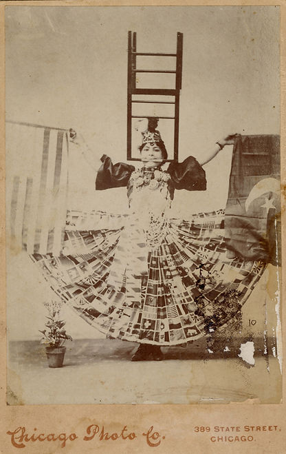 Photograph of performer and whirling dancer Marrie Bayrooty