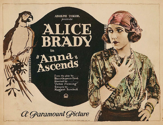 Lobby card for silent film Anna Ascends featuring Syrian character Anna Ayyoub