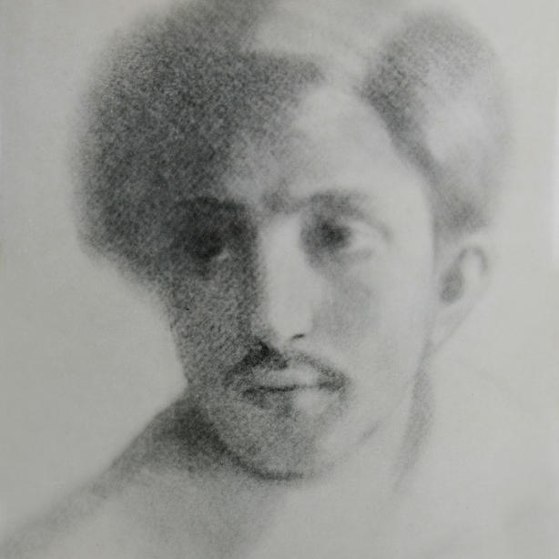Jibran Khalil Jibran, drawing of Ameen Rihani, 1913. Khayrallah Center Archive.