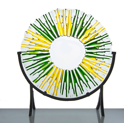 """Yellow Green Suncatcher 14"""""""