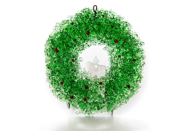 Hand Crafted Christmas Wreath Ornament