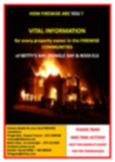 Firewise booklet front page