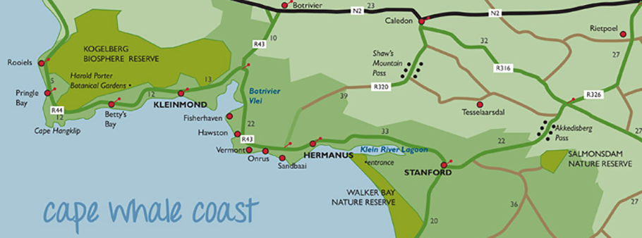 whale coast map banner