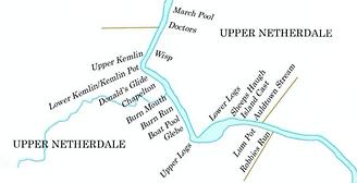 Deveronside Fishings - Map of Upper Netherdale Beat 2