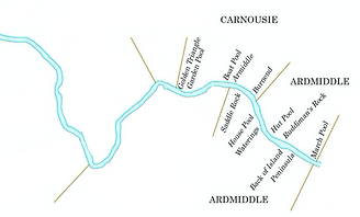 Deveronside Fishings - Map of Carnousie & Ardmiddle Beat