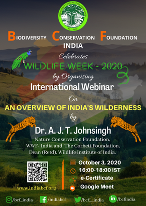 WILDLIFE WEEK CELEBRATIONS - 2020 | BCF-INDIA