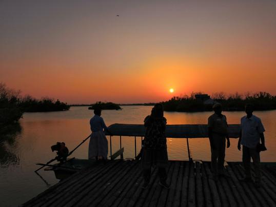 At Muthupet Lagoon
