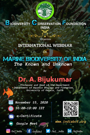 JOIN TO EXPLORE THE MARINE BIODIVERSITY OF INDIA