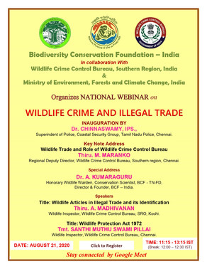 SENSITIZATION PROGRAMME FOR COASTAL SECURITY GROUP OF TN POLICE IN WILDLIFE LAW ENFORCEMENT
