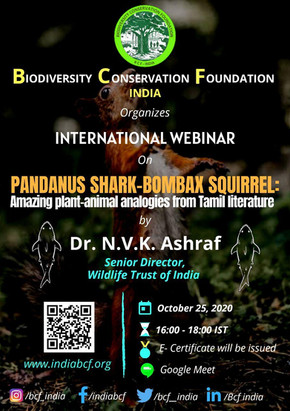 REMINDER | INTERNATIONAL WEBINAR | BCF - INDIA