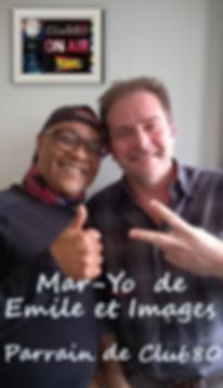 Mar-Yo ( de Emile & Images ), le parrain de Club80, et Serge, animateur-Producteur de Club80