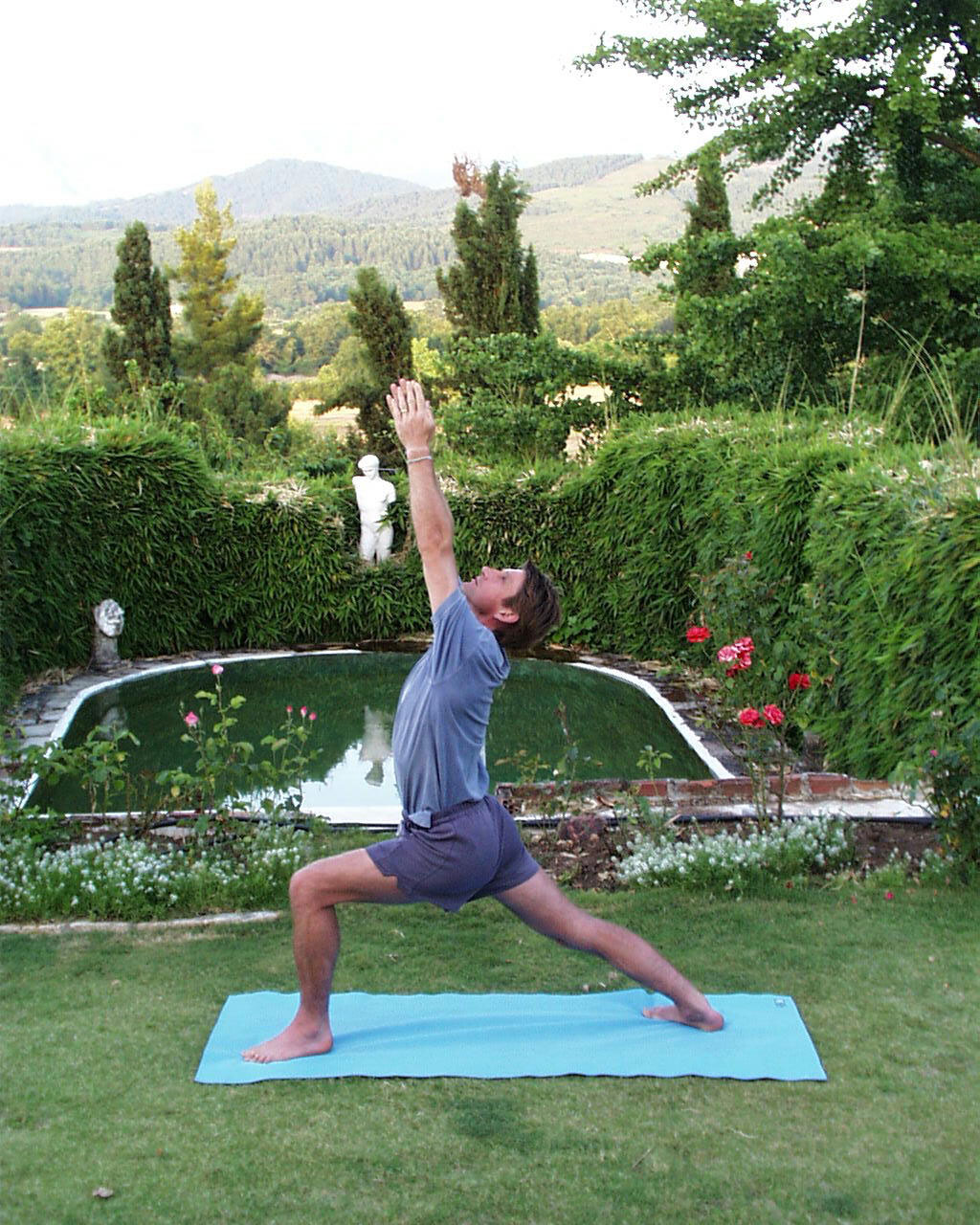 Yoga in Konaki's garden