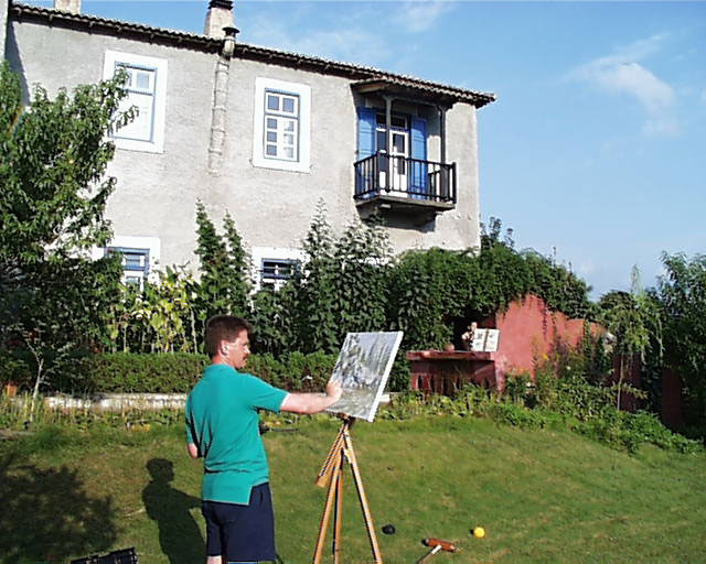 Painting retreats at Candili