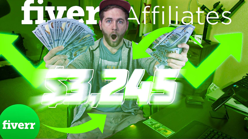 How much do I make on Fiverr Affiliates Program? Fiverr has an awesome marketing program called Fiverr Affiliates. I will show you what I make with the affiliate marketing program, how I do it and how you can too. Making money with affiliate marketing is a fun process and it's always encouraging seeing your first commission come through. This is one of the best affiliate programs I have ever seen and I have seen a lot of affiliate sites. This is one of the best ways to make money with affiliate marketing and I suggest you give it a try! It's free and you will be surprised as to how good it really is!