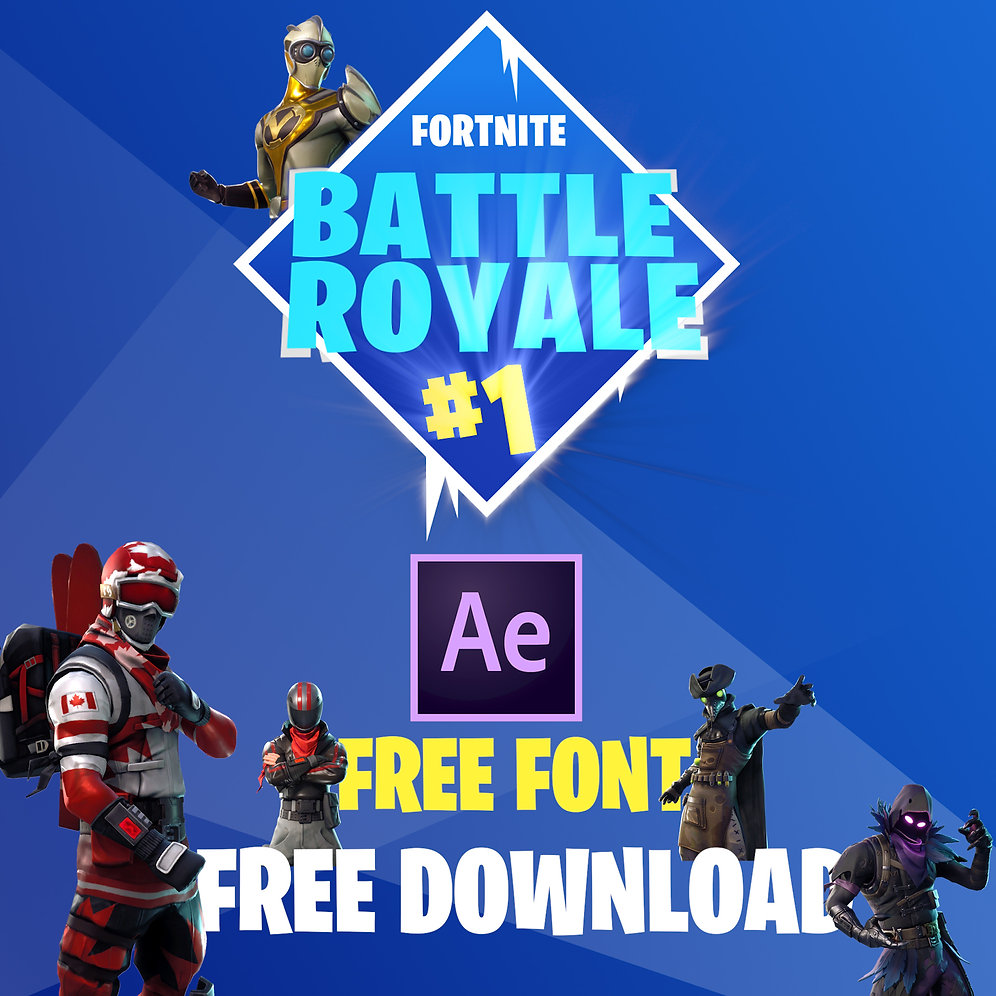 FREE Fortnite Elements! // After Effects FREE Download + Font