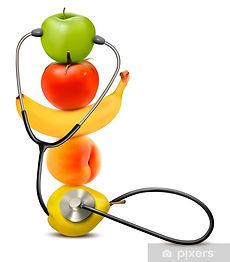 carte-da-parati-frutta-con-uno-stetoscop