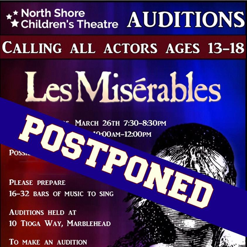 Les Miserables: Auditions