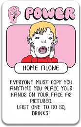 Home alone card Drink Drank Drunk