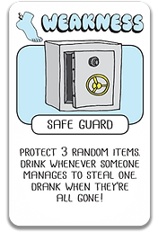 Safe Guard Card Drink Drank Drunk Protect the items!