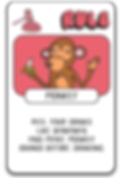 Monkey Card Drink Drank Drunk
