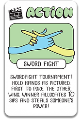 Swordfight card Drink Drank Drun