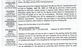 Notice of Board Meeting on 04/20/2021 to be held electronically