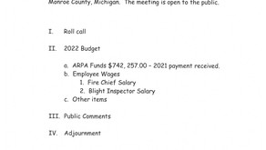 Budget Workshop 10/19/2021