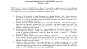 Notice of Planning Commission Special Public Hearing 10/20/2021