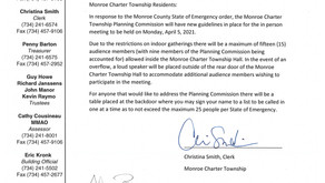 Planning Commission Agenda 04/05/2021 Meeting ** New Guidelines for in person meeting