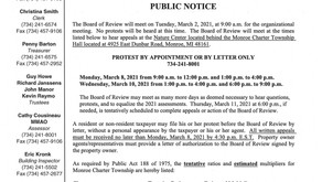 Board of Review Public Notice *Revised location