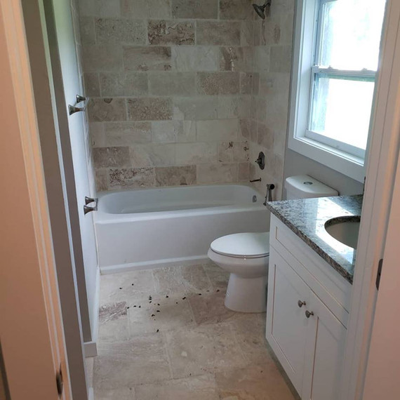 After Pic: Custom bathroom remodel