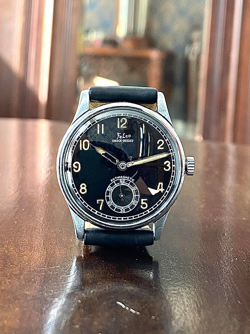 1940s Military style Felco watch, Swiss made, Wehrmachtswerk AS 1130, serviced