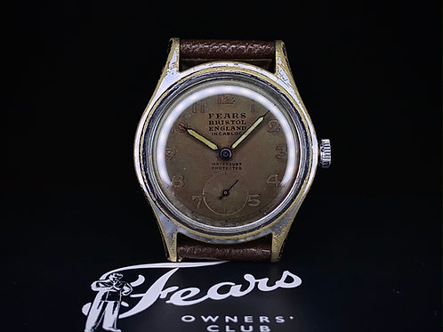 """1940s Fears """"Streamline"""" model A1549, with Seeland Watch Co. movement"""