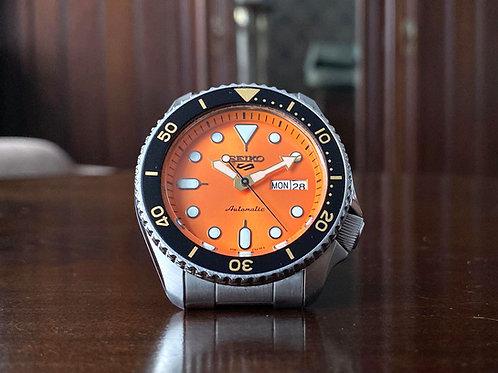 Hardly worn, Seiko 5 Diver watch with orange dial, SRPD59K1, 4R36-07G0