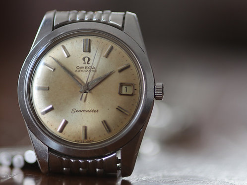 1963 Omega Seamaster Date Champagne dial, ref. 166010 on original beads of rice