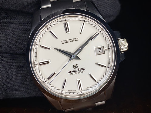 2019 Pre-owned Grand Seiko SBGR055 white dial Watch, 9S65 with boxes & paperwork